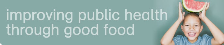 improving public health through good food image - man speaking at awards