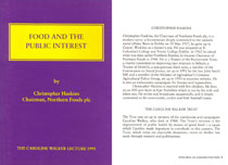 1995: Food and the public interest - PDF