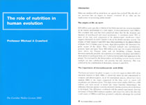 2002: The Role of Nutrition in Human Evolution - PDF