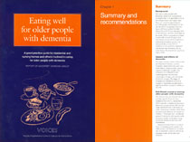 Eating well for older people with dementia - Nutritional and practical guidelines - PDF